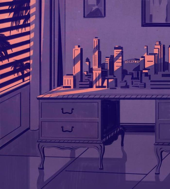 Thomas Mann's desk, AD Architectural Digest Germany | Emiliano Ponzi