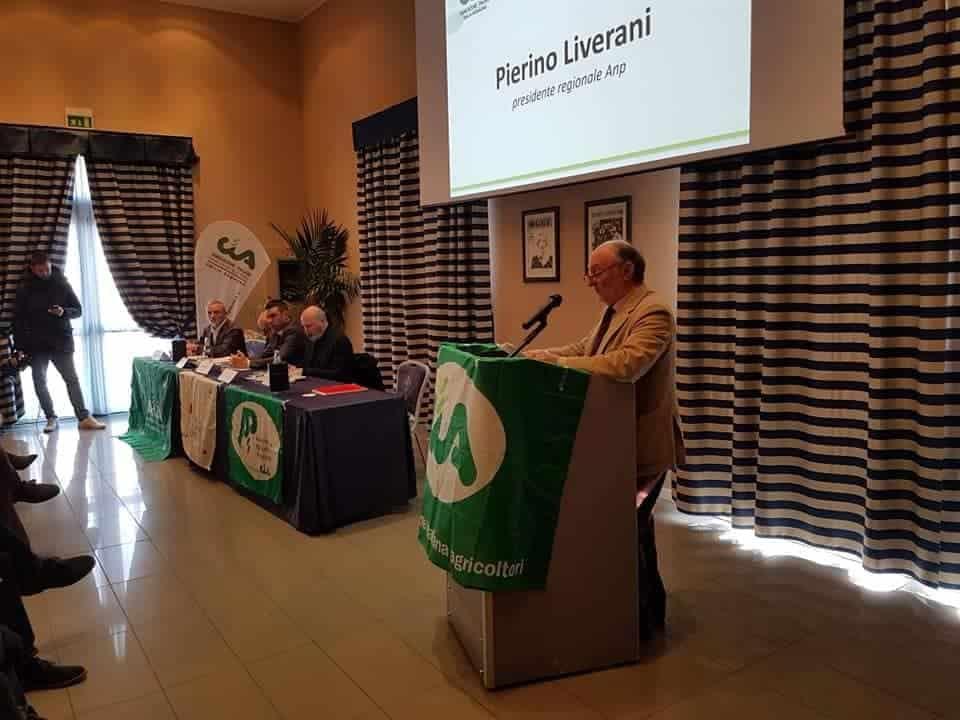 l'intervento del presidente Anp, Pierino Liverani