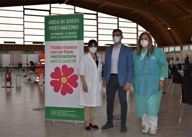 Vaccinazione per il Sindaco di Parma Federico Pizzarotti nel pomeriggio al Pala Ponti