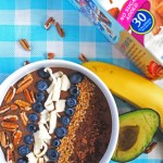 A healthy, delicious way to enjoy chocolate pudding for breakfast! Banana and avocado make this smoothie bowl creamy and secretly nutritious.