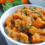 Red Lentil, Sweet Potato, and Carrot Vegan Chili