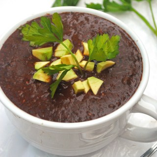 Vegan Slow Cooker Black Bean Soup
