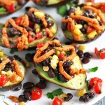 Mexican Stuffed Avocado with Buffalo Tahini Sauce