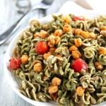 Avocado Pesto Pasta with Roasted Chickpeas + A Free eBook!