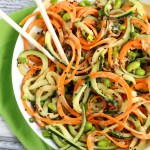 Spiralized Asian Quinoa Salad with Peanut Dressing