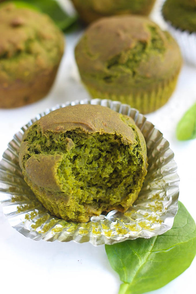 If you struggle to get your greens in, how about making some muffins? These vegan & gluten-free Spinach Muffins are packed with nutritious spinach you can't even taste.