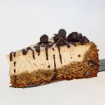 Vegan Cheesecake with Chocolate Chip Cookie Crust