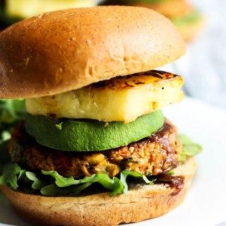 Hawaiian Chickpea Veggie Burgers