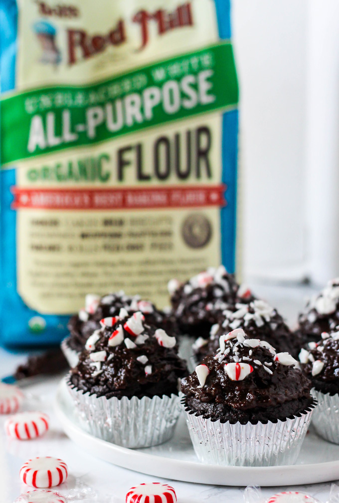 These fluffy, oil-free Vegan Chocolate Peppermint Cupcakes are the ultimate holiday dessert. They're topped with a naturally sweet chocolate date frosting!