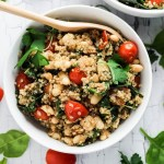 Easy Quinoa Salad with Tomatoes & Spinach