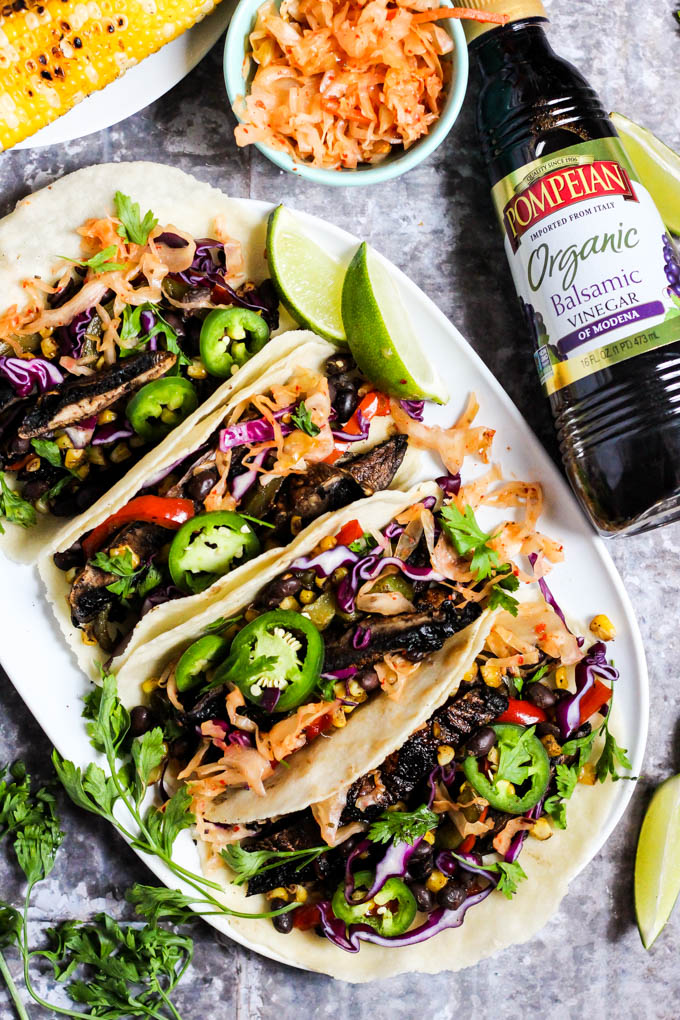 Grilled Vegetable Portobello Mushroom Tacos (vegan ...