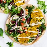 Turmeric Baked Falafel (vegan & gluten-free)