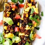 Mexican Stuffed Zucchini (vegan & gluten-free)