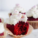 These fluffy Vegan Red Velvet Cupcakes are hiding a secret ingredients (beets!), but no one will ever know! They're perfectly sweet and made with simple ingredients. Topped off with a creamy coconut frosting!