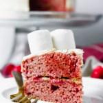 Vegan Vanilla Strawberry Cake (Marshmallow Lamb!)