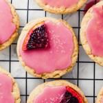 Vegan Sugar Cookies with Blood Orange Glaze