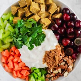 Vegan Curried Seitan Salad
