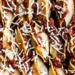 Plant-Based Lasagna Stuffed Shells