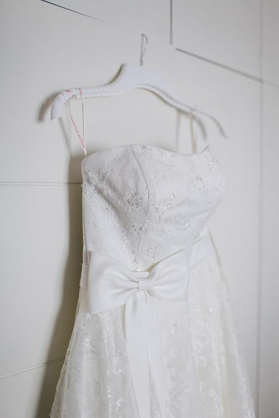 Charlotte Balbier tea length wedding dress