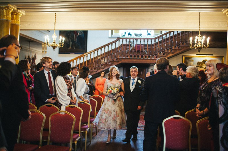 A quirky vintage Walcot Hall Wedding in Shropshire.
