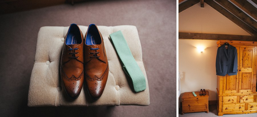 Groom's wedding suit and shoes