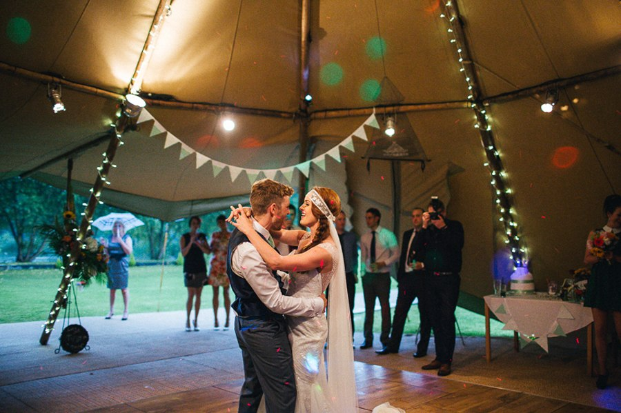 First dance villa farm wedding