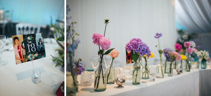 Colourful summer wedding details