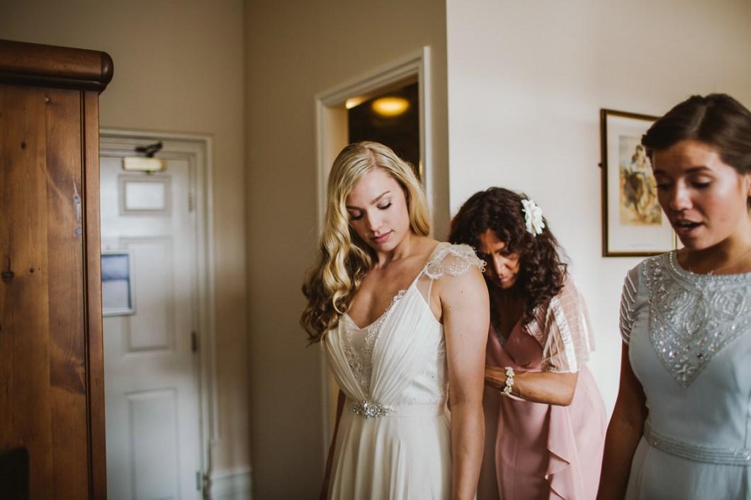 Jenny Packham wedding dress with capped sleeves