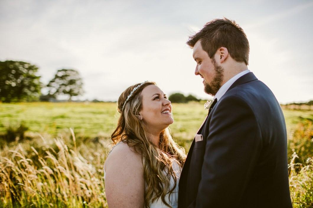 Sunset wedding photo Lancashire