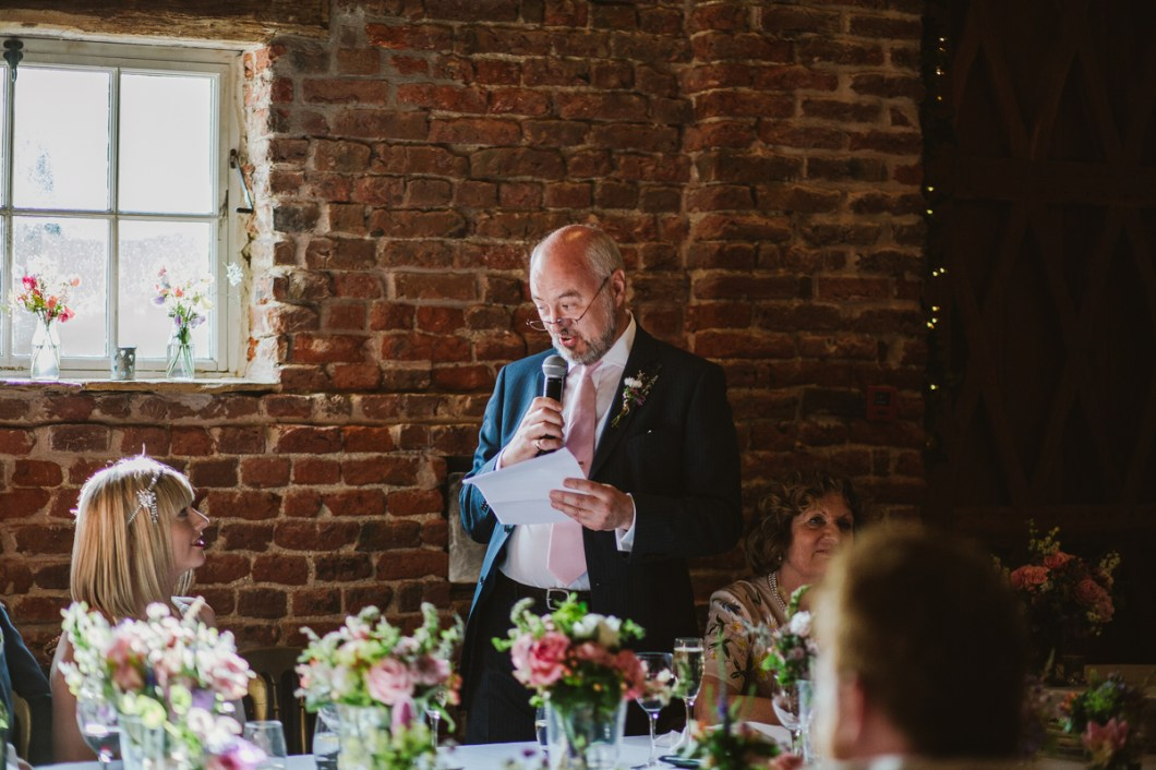 Wedding speech at Meols Hall