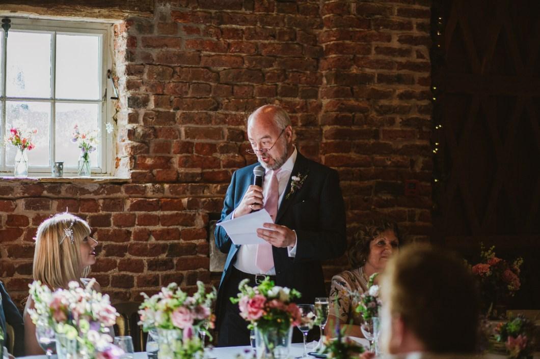 Wedding speech at Meols Hall