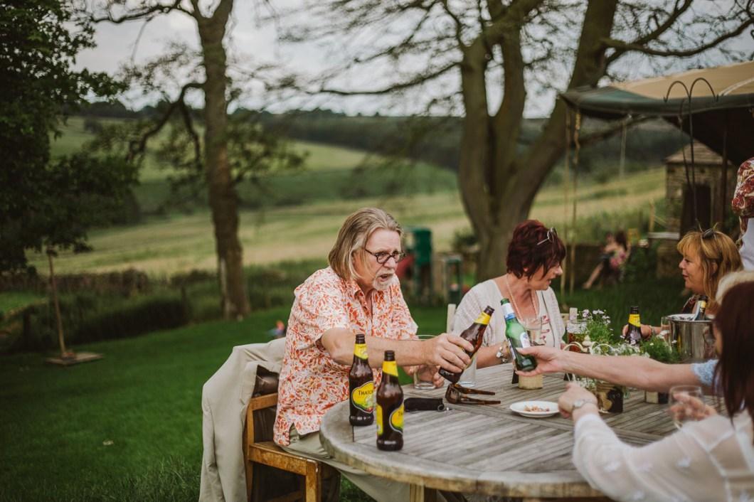 Outdoor tipi wedding Yorkshire