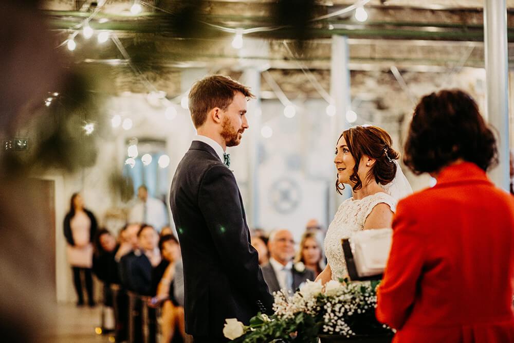 Wedding ceremony Holmes Mill
