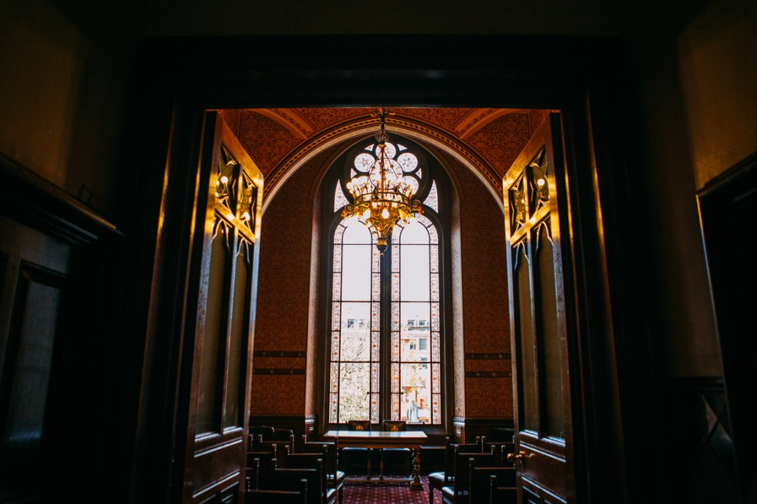 Windows at Manchester Town Hall