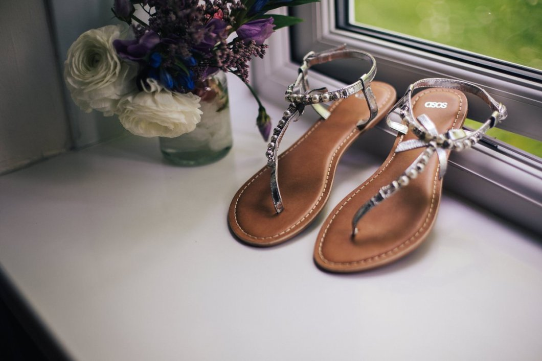 Boho wedding shoes, bridal shoes, relaxed vintage wedding.