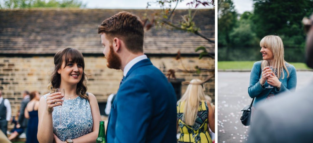 Natural wedding photographer, East Riddlesden Hall.
