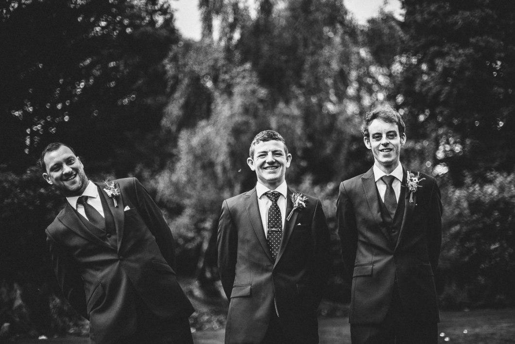 Fun groom and ushers portraits