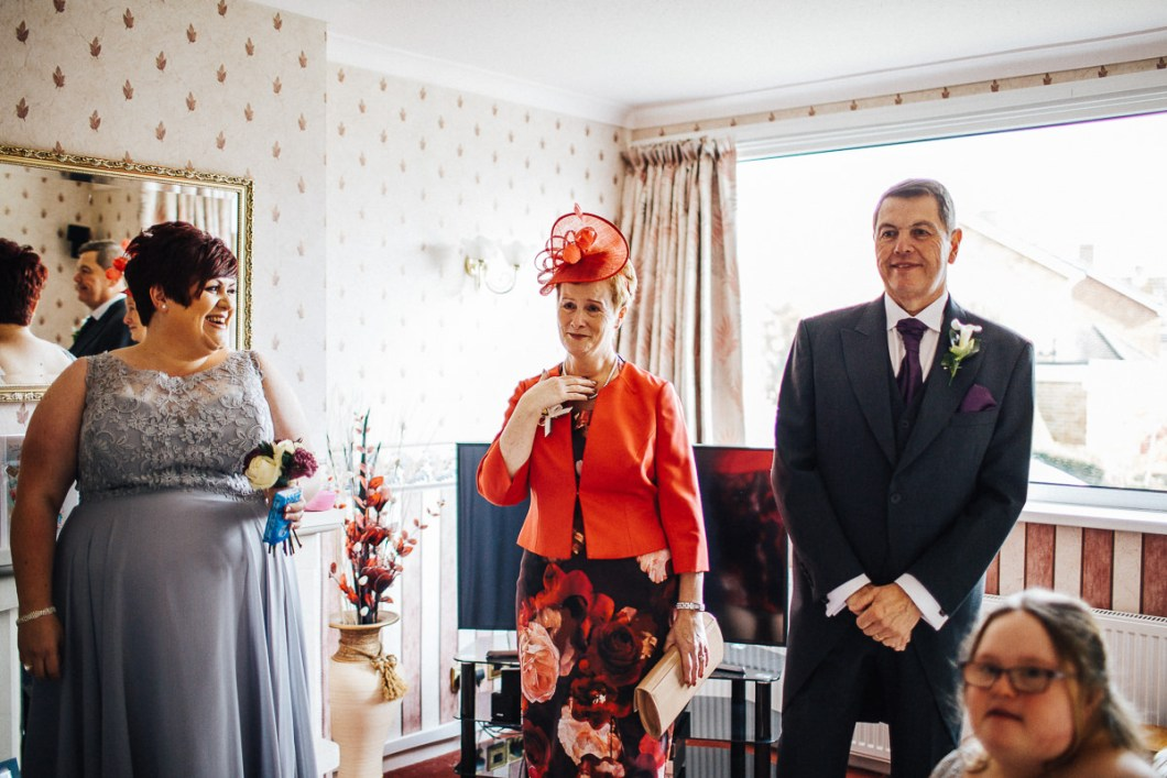Emotional moments during the wedding