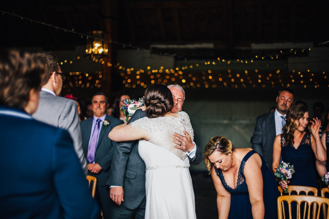Hug from the bride's dad