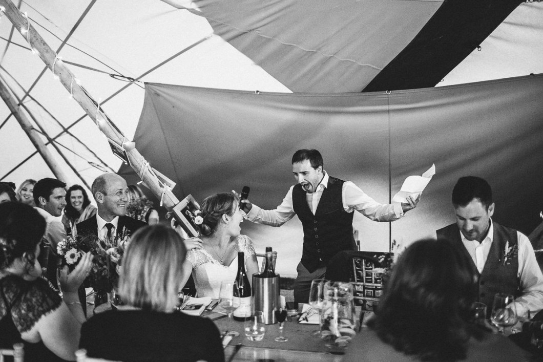 Grooms fun wedding speech