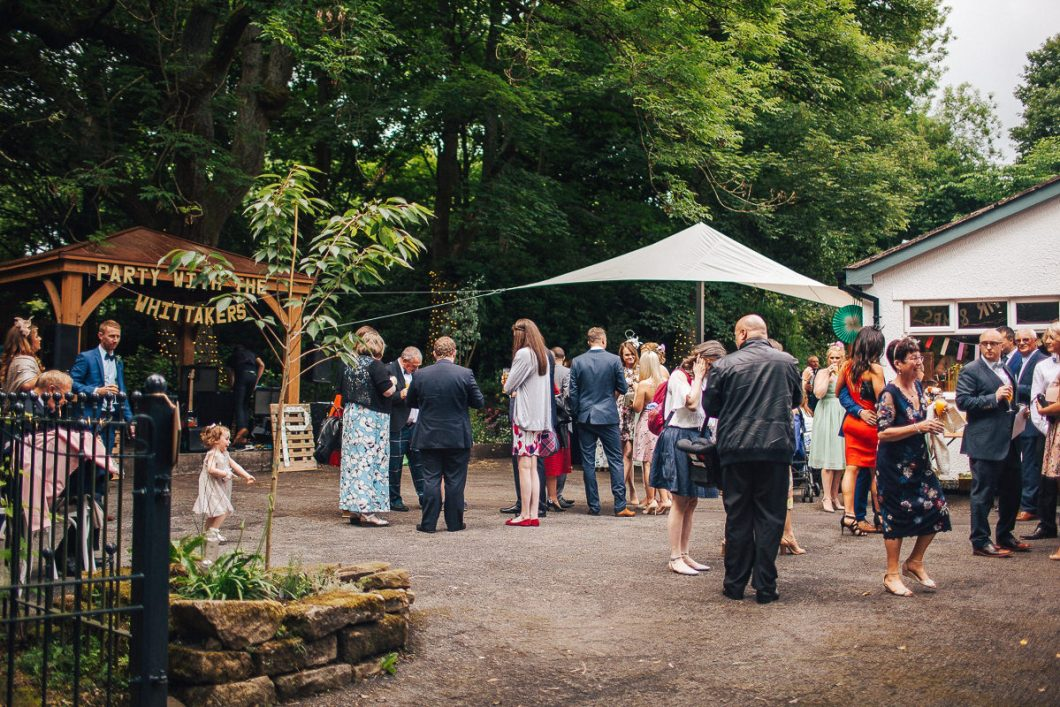 Colourful outdoor wedding Lancashire