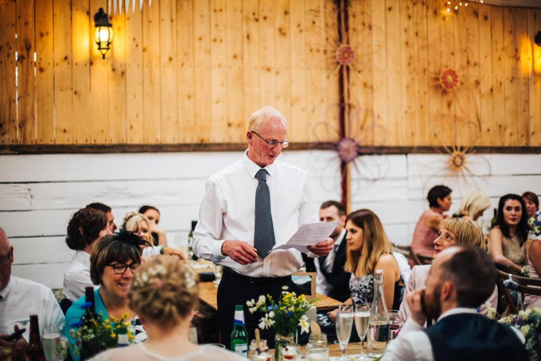 Barn wedding speeches
