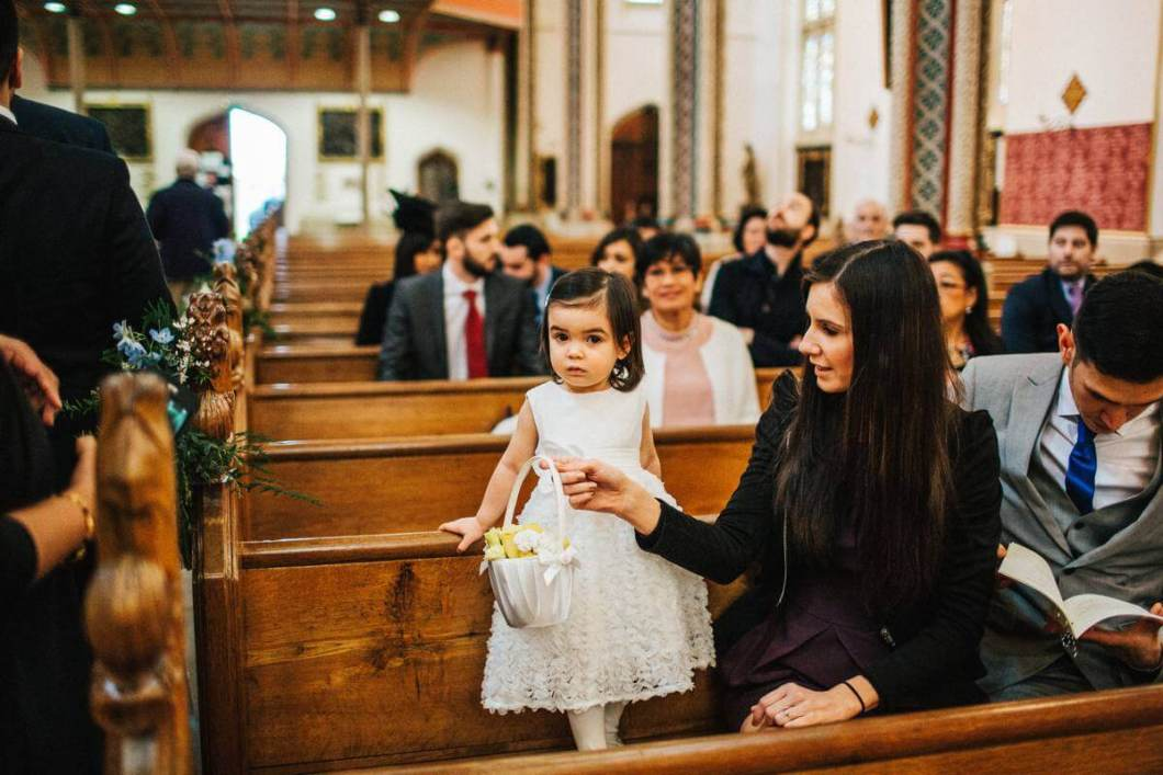 Flowergirl at the church