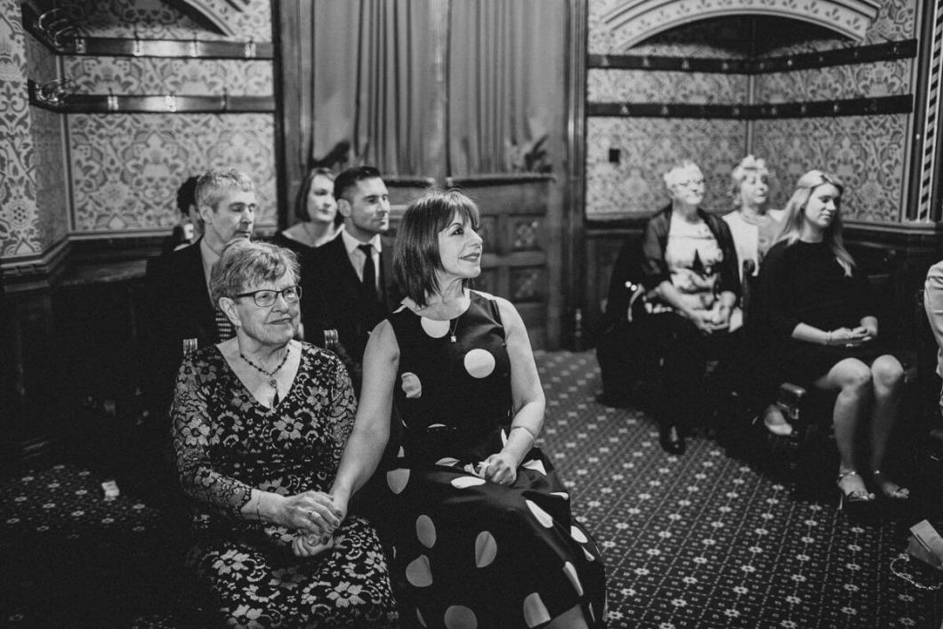 Guests enjoying the ceremony