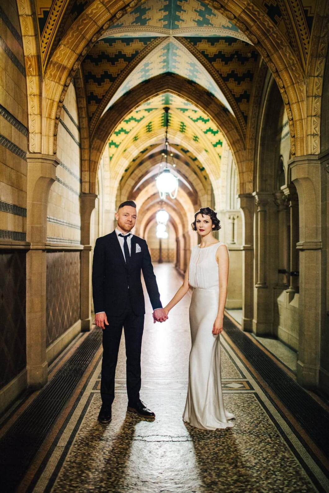 Cool wedding photo in Manchester