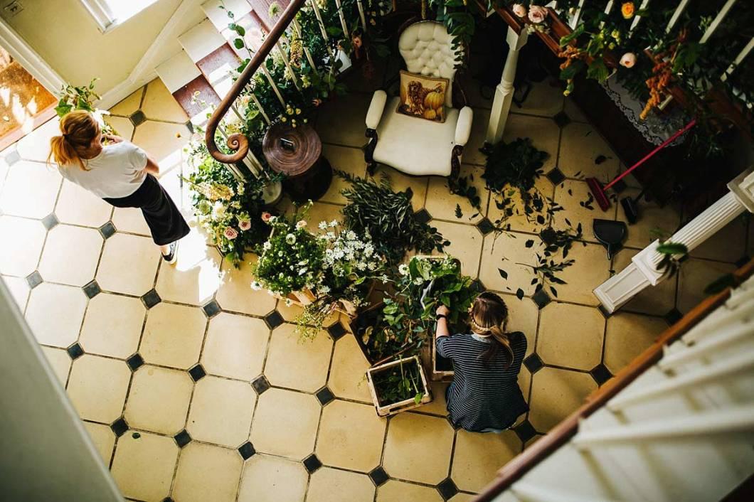 East Bridgford Hill wedding preparations