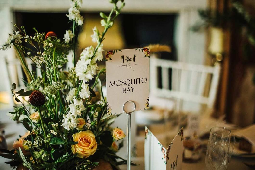 Woodland themed table decor