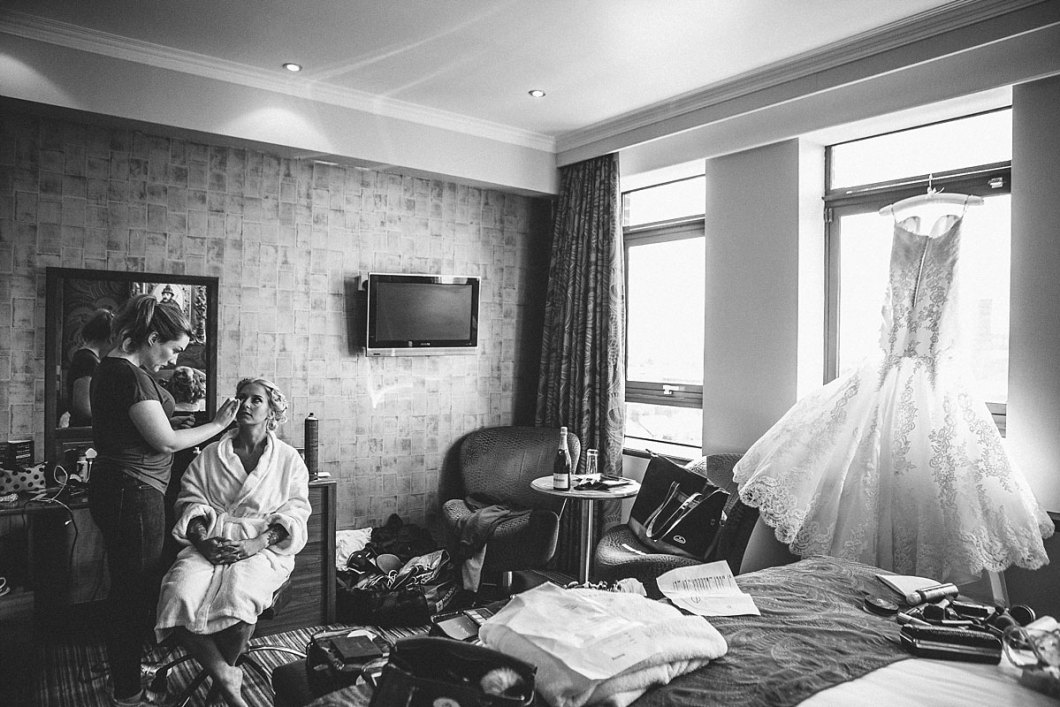 Wedding morning preparations