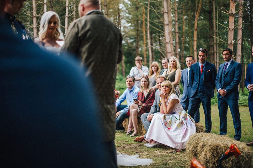 Guests at the outdoor wedding