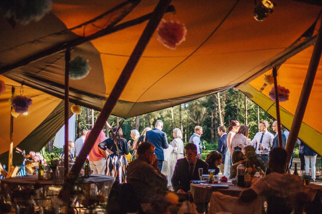 Event in a Tent Delamere Forest wedding